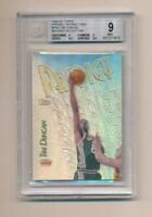1999 Topps Prodigy Refractors PR8 Tim Duncan Missing Die Cutting BGS 9