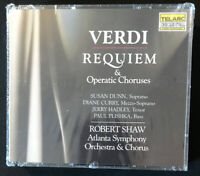 Verdi Requiem & Operatic Choruses Plishka Dunn Curry 2CD 1st Ed Sealed