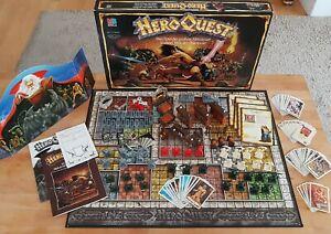 HeroQuest Brettspiel MB unbemalt vollständig guter Zustand Hero Quest deutsch