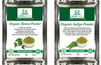 USDA Certified Organic Henna Powder 300g + Organic Indigo Powder 300g - Hair Dye