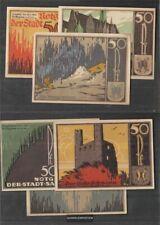 Saalfeld Notgeld: 1155. Drei Notgeldscheine der Stadt Saalfeld bankfrisch 1921 3