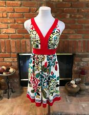 ECI New York sz 6 Vibrant Floral Print Dressy Empire Tie Waist Halter Dress