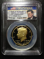 2014 W Gold Kennedy Half 50th Anniversary Chicago ANA PCGS PR70 DCAM 1st Strike