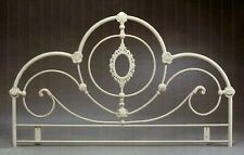 4ft6 Double Metal Headboard for Bed in cream finish
