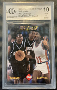 1996 Collector's Edge Time Warp Factory Set #6 Iverson/Thomas BCCG 10