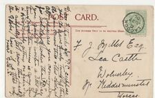 F. Millet Esq., Lea Castle, Wolverley, Kidderminster 1906 Postcard, M033
