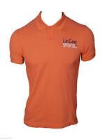 Polo T-shirt Maglietta Manica Corta Le Coq Sportif Uomo Arancione 100% Cotone XS