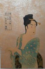 New listing Japanese Woodblock Print Ukiyo-E Shin Hanga Vintage Antique Rare Utamaro