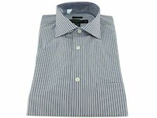 Pronto Uomo Gray Stripes Regular Fit Non-Iron 2-Ply Cotton Dress Shirt 15 32/33