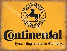 Vintage Garage Continental Tyres Motor Car Vehicle Wheel Medium Metal/Tin Sign