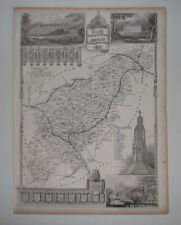 NORTHAMPTONSHIRE A Vintage Antique Map From 1848 Northampton Wellingborough