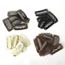 40pcs Women Beige Brown Black U Shaped Clips For Clip In Hair Extensions 28mm