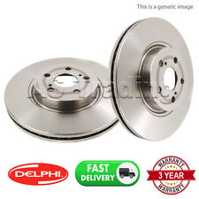 2X FRONT DELPHI LOCKHEED COATED BRAKE DISCS FOR MERCEDES E-CLASS 2002-08