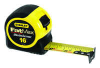 Stanley  FatMax  16 ft. L x 1.25 in. W Tape Measure  Black/Yellow  1 pk