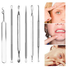 6Pcs Blackhead Remover Pimple Acne Needles Extractor Tool Comedone Removal New