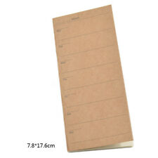 Kraft Cover Weekly Planner 24 Sheets Ivory Paper Notebook Travel Note Handbook