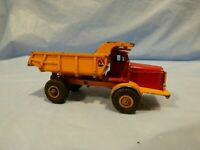 Vintage Budgie Toys Tipper Truck No 242 Euclid Orange Red Diecast Truck Toy