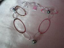 Tahitianas Collar De Perlas Cultivadas, Perlas, 10mm en 13.9 gramos de ley 925 SIL