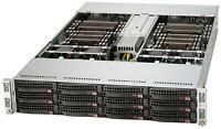 2U Supermicro 4 Node Server 12 Bay SYS-6026TT-HTRF X8DTT-HF+ 8x X5670 32x 8GB