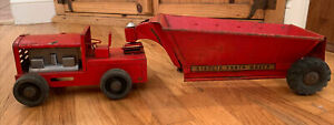 VINTAGE 1950's STRUCTO EARTH MOVER Bottom Dump PRESSED STEEL TRUCK Collectible