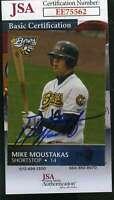 Mike Moustakas 2008 Burlington Rookie Jsa Coa Hand Signed Authentic Autograph