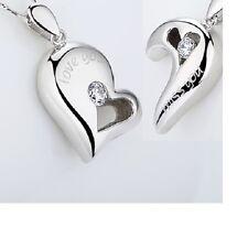 Doppia collana a catenina cuore spezzato in argento 925 RODIATO  necklace