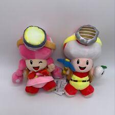 """2X Super Mario Captain Toad Toadette Plush Treasure Tracker Soft Toy Doll 8"""""""