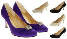 Stiletto Court Formal Textured Heels for Women