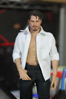 """1/6 Male White Shirt Clothes Model Figure Accessories For 12"""" Action Body"""