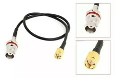 BNC Female Plug to SMA Male Connector 30cm RG174 Adapter Antenna Signal Cable