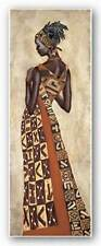 Femme Africaine II Jacques Leconte African American Art Print 9x27