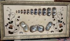 Rare! Stunning Large Vintage Framed Pearl&Oyster Shells Growth Display Japanese