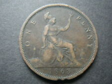 Victoria 1863 One Penny  ......  ... (S60)