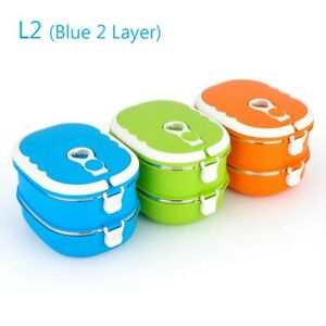 Portable Food Warmer Kids School Lunch Box Thermal Insulated Food Box Container