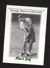 George Mason Patriots--1998 Golf Pocket Schedule--Giant