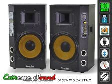 COPPIA CASSE AUDIO 1500 W USB BLUETOOTH x KARAOKE- DJ  EXTREME SOUND CX-2S10U-B