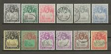 ST HELENA 1922-37 SG 97/109 USED Cat £88