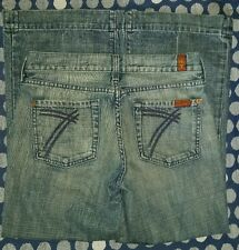 7 Seven For All Mankind Dojo Low Rise Flare cropped Women's Jeans Size 26