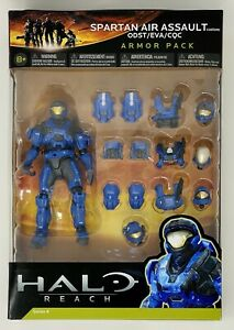 Halo Reach Blue Spartan Air Assault Armor Pack SERIES 4 McFarlane Sealed New