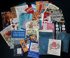 Large Lot of 26 Vintage Recipe Books & Booklets Baking Cooking Methods Ads Etc +