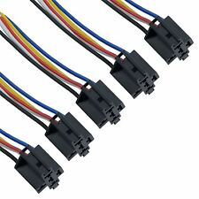 5 x Prewired 4 / 5 Pin Automotive Relay Socket Holder 40A 12V