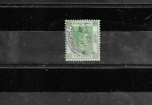HONG KONG 1941-1945 KING GEORGE V1. 5 CENT. GREEN.  FINE USED. AS PER SCAN