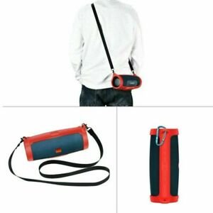 Silicone Storage Case Carry Bag +Strap for JBL charge4 Bluetooth Audio Speaker