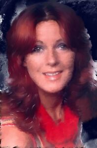 Anni-Frid Lyngstad original face painting in acrylic. Fine art by Brian Tones