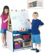 Rainbow Accents 2 Station Easel - Black Purple