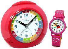 Atlanta Kinderwecker Mädchen rot Pink Armbanduhr – 1678-17 Kau