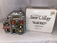 1990 The Original Snow Village 5154-3 Village Realty & Cafe Italiano Dept 56