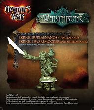 Avatars of War: Skrigg Dwarfmocker and shieldbearer - AOW42 -Warhammer Goblin