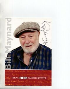 Bill Maynard Heartbeat Signed BBC Radio Leicester Cast Card Autographed