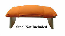 MEDITATION STOOL CUSHION, ORANGE, WITH ORGANIC KAPOK FILLING,FIT MOST STOOLS